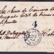Sellos: PREFI-599 CUBA SPAIN STAMPLESS PREFILATELIA 1849 STAMPLESS BAEZA MARIEL BLUE. Lote 148461486