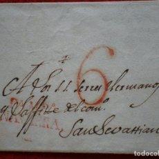 Timbres: PREFILATELIA CARTA AÑO 1827 PAMPLONA A SAN SEBASTIÁN BONITA MARCA. Lote 148866642