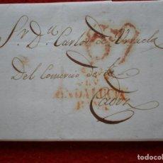Sellos: PREFILATELIA CARTA AÑO 1832 SEVILLA A CÁDIZ INCLUYE OTRA CARTA INTERIOR. Lote 148866662