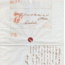 Sellos: SOBRE PREFILATELIA GIJON (ASTURIAS) A MADRID. AÑO 1850. Lote 152167109