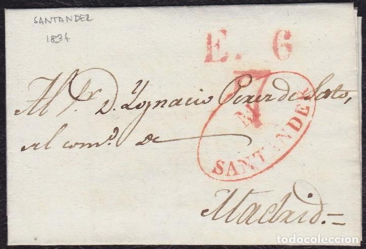 1834. SANTANDER A MADRID. CARTA COMPLETA. (Filatelia - Sellos - Prefilatelia)