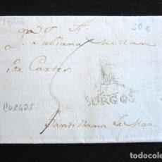 Sellos: AÑO 1806. PREFILATELIA. CARTA PREFILATÉLICA. BURGOS-SANTILLANA DEL MAR. . Lote 154097526
