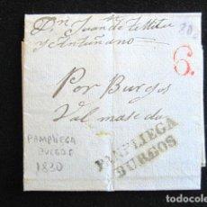 Sellos: AÑO 1830. PREFILATELIA. CARTA PREFILATÉLICA. PAMPLIEGA. BURGOS. . Lote 154097674