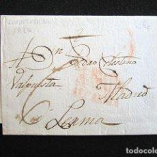 Sellos: AÑO 1827. PREFILATELIA. CARTA PREFILATÉLICA. GUADALAJARA. MADRID. LERMA. . Lote 154104814