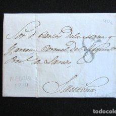 Sellos: AÑO 1834. PREFILATELIA. CARTA PREFILATÉLICA. MADRID. SANTOÑA.. Lote 154593638