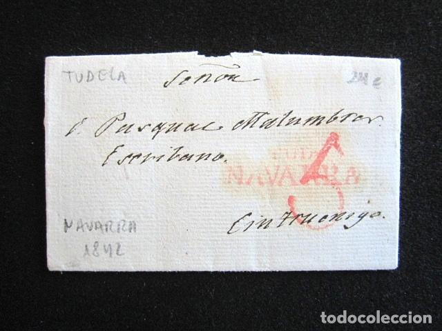 AÑO 1842 . PREFILATELIA. CARTA PREFILATÉLICA. NAVARRA. CINTRUENIGO. TUDELA. (Filatelia - Sellos - Prefilatelia)