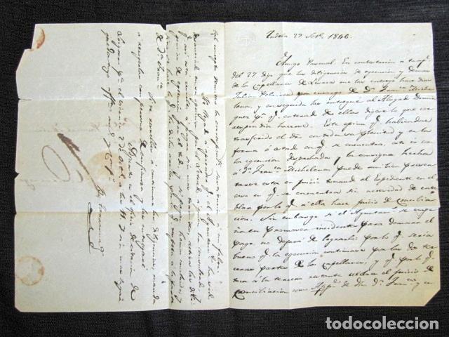 Sellos: AÑO 1846 . PREFILATELIA. CARTA PREFILATÉLICA. NAVARRA. CINTRUENIGO. TUDELA. - Foto 2 - 154596242