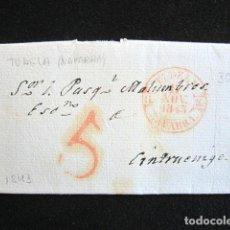 Sellos: AÑO 1843 . PREFILATELIA. CARTA PREFILATÉLICA. NAVARRA. CINTRUENIGO. TUDELA. . Lote 154596410