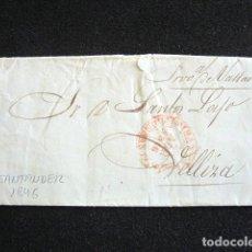 Selos: AÑO 1846. PREFILATELIA. CARTA PREFILATÉLICA. SANTANDER. VELLIZA. . Lote 154597922