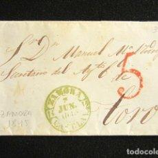 Selos: AÑO 1845. PREFILATELIA. SOBRE PREFILATÉLICO. ZAMORA. TORO.. Lote 154615126