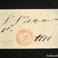 Selos: AÑO 1846. PREFILATELIA. SOBRE PREFILATÉLICO. ZAMORA. TORO.. Lote 154615214