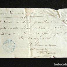Sellos: AÑO 1856. PREFILATELIA. FRONTAL PREFILATÉLICO. ZAMORA. TORO. . Lote 154616670