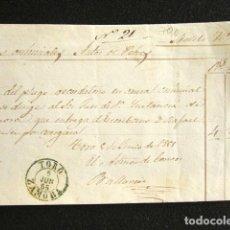 Sellos: AÑO 1855. PREFILATELIA. FRONTAL PREFILATÉLICO. ZAMORA. TORO. . Lote 154617862