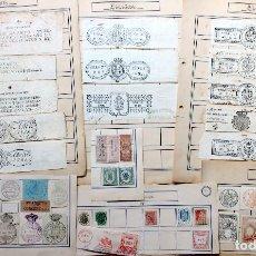 Sellos: PREFILATELIA, SELLOS Y TIMBRES OFICIALES, FRANQUEO CONCERTADO DE 1760 A 1936: LOTE DE 45 TIMBRES. Lote 154735286