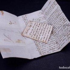 Sellos: CARTA AL CORONEL D. SATURIO DÁVALOS Y BEAUMONT. PAMPLONA 1819. Lote 155156642
