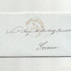 Sellos: CIRCULADA Y ESCRITA 1848 DE BARCELONA A DIPUTADO A CORTES GERONA . Lote 155264358