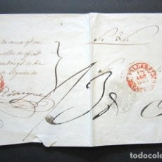 Sellos: AÑO 1831. PREFILATELIA. PLICA DE VALLADOLID A TORO. MARCA DE ABONO EN ROJO.. Lote 155277318
