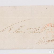 Sellos: PREFILATELIA. ENVUELTA DE BADAJOZ A ZAFRA, 1849. BAEZA. Lote 158608166