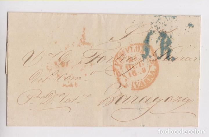 PREFILATELIA. ENVUELTA DE PAMPLONA, NAVARRA. BAEZA. 1848. A ZARAGOZA (Filatelia - Sellos - Prefilatelia)