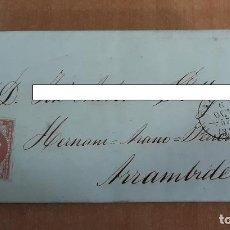 Sellos: CARTA. CORRESPONDENCIA DE PAMPLONA A ARRAMBIDE. 1857. PAIS VASCO. Lote 160985134