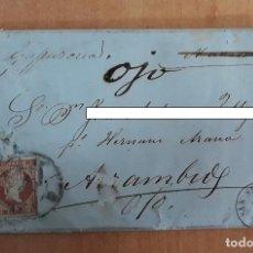 Sellos: CARTA. CORRESPONDENCIA DE SAN SEBASTIAN A ARRAMBIDE. 1859. PAIS VASCO. Lote 160985806
