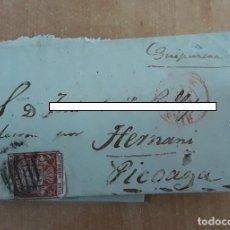 Sellos: CARTA. CORRESPONDENCIA A HERNANI, PICOAGA. SIGLO XIX. PAIS VASCO. Lote 160986630