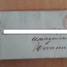 Sellos: CARTA. CORRESPONDENCIA DE TOLOSA A HERNANI. 1834. PAIS VASCO. Lote 160987914