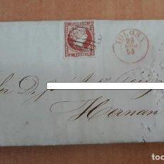 Sellos: CARTA. CORRESPONDENCIA DE TOLOSA A HERNANI. 1856. PAIS VASCO. Lote 160988206
