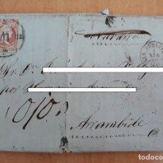 Sellos: CARTA. CORRESPONDENCIA DE SAN SEBASTIAN A ARRAMBIDE. 1859. PAIS VASCO. Lote 160988770