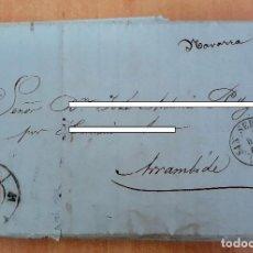Sellos: CARTA. CORRESPONDENCIA DE SAN SEBASTIAN A ARRAMBIDE. 1860. PAIS VASCO. Lote 160988854