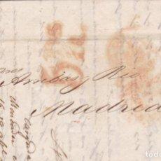 Sellos: CM1-47-CARTA COMPLETA SANTIAGO DE CUBA - MADRID 1851. MARCA ISLAS DE BARLOVENTO. LISTA DE PRECIOS. Lote 162417174