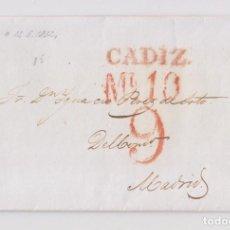 Sellos: PREFILATELIA. CARTA ENTERA DE CÁDIZ A MADRID. 1832. Lote 164278870