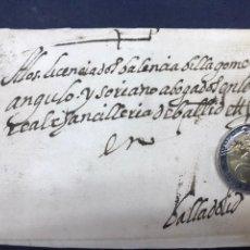 Sellos: 1589. CARTA, ENVUELTA POSTAL DE NAJERA A VALLADOLID. CARTA DE GONZÁLEZ DE MENDOZA.. Lote 164737210