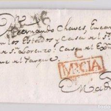 Selos: PREFILATELIA. CARTA ENTERA. CARAVACA, MURCIA. 1822. MAGNÍFICA ESTAMPACIÓN. Lote 164759838