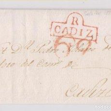 Selos: PREFILATELIA. CARTA ENTERA. PUERTO REAL. CÁDIZ. 1822. LUJO. Lote 164803982