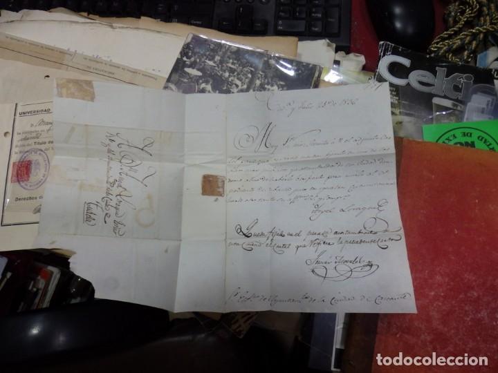 Sellos: 1836, CARTA PREFILATELICA DE TUDELA A CARCANTE - Foto 3 - 144087122