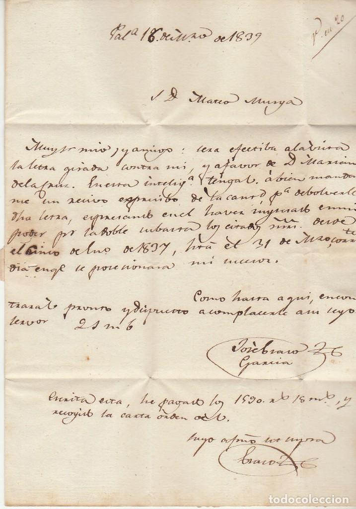 Sellos: PALENCIA a MADRID. 1839 - Foto 2 - 169679092