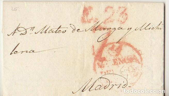 VALENCIA A MADRID. 1829 (Filatelia - Sellos - Prefilatelia)