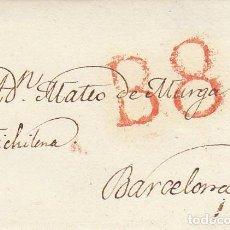 Sellos: MADRID A BARCELONA. 1825.. Lote 170014584