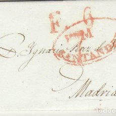 Sellos: SANTANDER A MADRID. 1840.. Lote 170105800
