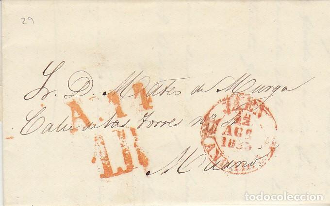 JAEN A MADRID . 1833. (Filatelia - Sellos - Prefilatelia)