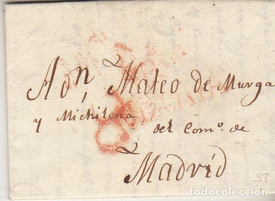 BILBAO A MADRID. 1829. (Filatelia - Sellos - Prefilatelia)