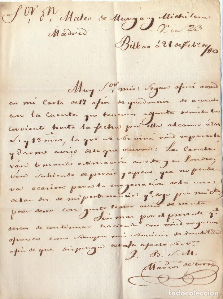 Sellos: BILBAO a MADRID. 1829. - Foto 2 - 170199028
