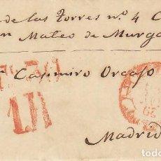 Sellos: MASCARAQUE (TOLEDO) A MADRID. 1856. Lote 170297140