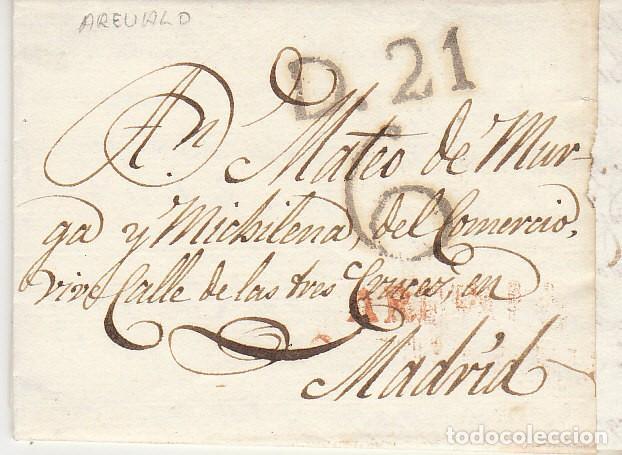 AREVALO A MADRID 1827. (Filatelia - Sellos - Prefilatelia)