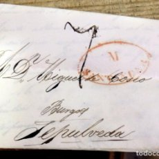 Sellos: PREFILATELIA, CARTA COMPLETA CIRCULADA ENTRE SANTANDER Y SEPULVEDA, 1834. Lote 171489764