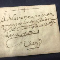 Sellos: 1588. CARTA, ENVUELTA POSTAL SEGOVIA A VALLADOLID. DIRIGIDA A MARIA MORENA CERON.. Lote 171696935