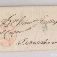 Sellos: PREFILATELIA. CARTA ENTERA. VALENCIA A BARCELONA. 1839.. Lote 171741409