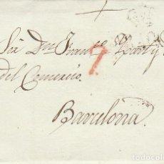 Sellos: ZARAGOZA A BARCELONA. 1827.. Lote 171794925