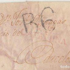 Sellos: GERONA A BARCELONA. 1818.. Lote 171795153